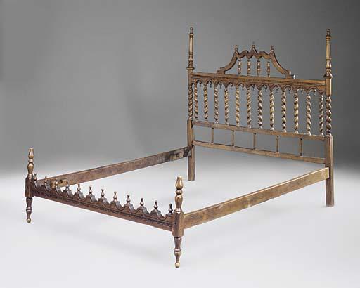 A SPANISH WALNUT BED