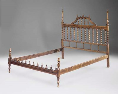 A SPANISH WALNUT BED