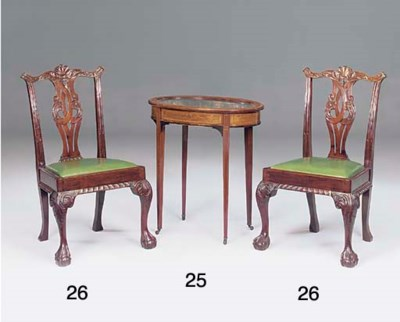 A PAIR OF EDWARDIAN CARVED MAH