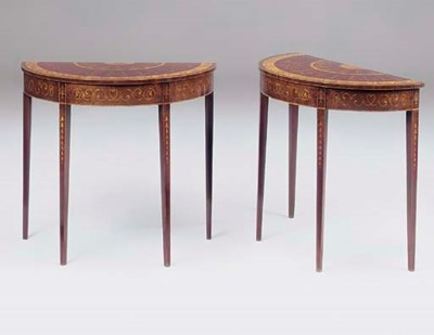 A PAIR OF EDWARDIAN MAHOGANY S