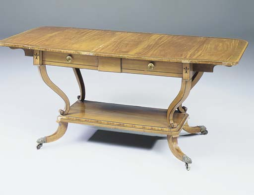 A REGENCY SATINWOOD AND ROSEWO