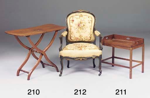 A Victorian mahogany folding b