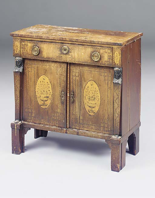 A DUTCH MAHOGANY AND MARQUETRY