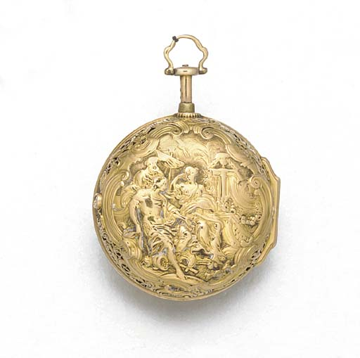 AN 18TH CENTURY GOLD REPOUSSE