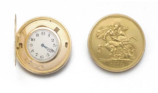 AN 18ct. GOLD FIVE POUND COIN