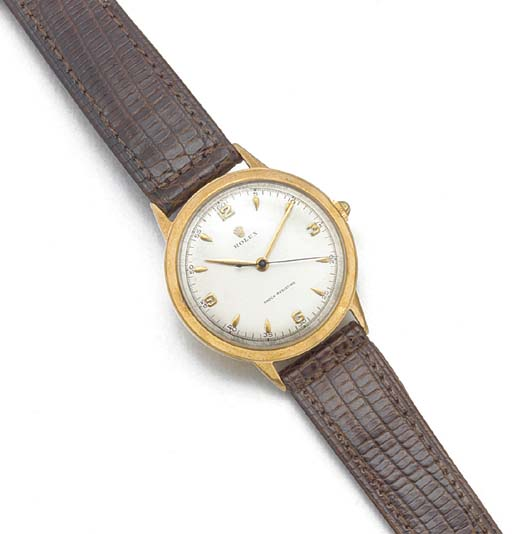 ROLEX: A 9ct. GOLD CENTRE SECO