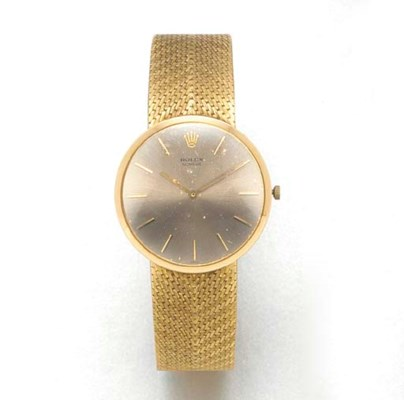 ROLEX: AN 18ct. GOLD WRISTWATC