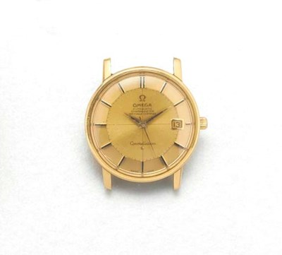 OMEGA: AN 18ct. GOLD AUTOMATIC