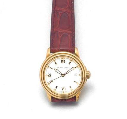 BLANCPAIN: A LADY'S 18ct. GOLD