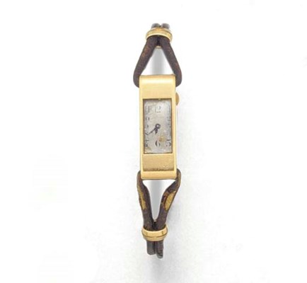 CARTIER, A LADY'S 18ct. GOLD R