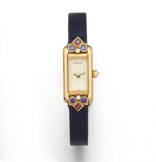 CARTIER: A LADY'S 18ct. GOLD,