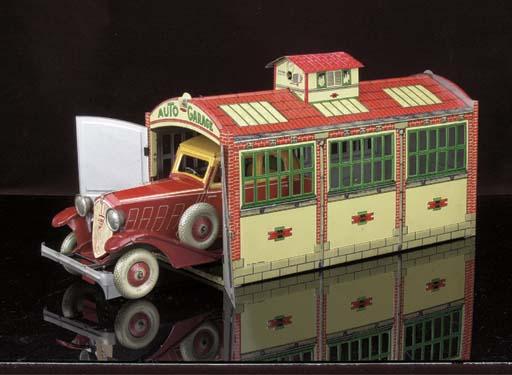 A Rossignol Garage and Car Set