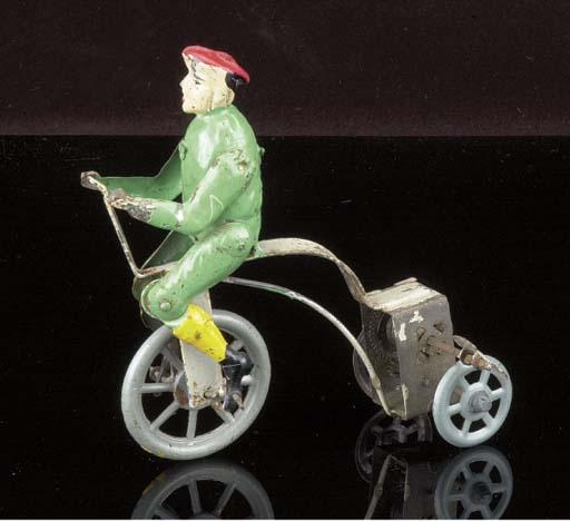 A German clockwork Tricyclist