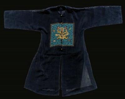 A surcoat (pu'fu) of midnight
