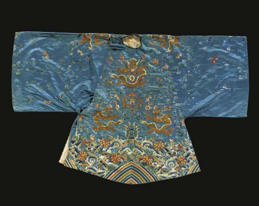 A semi-formal robe of sky blue