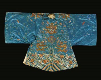 A semi-formal robe of sky blue