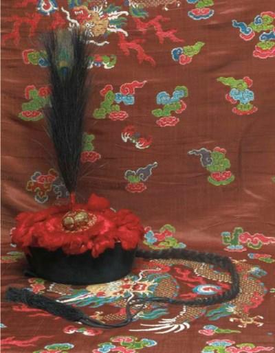 A winter court hat (chao guan)