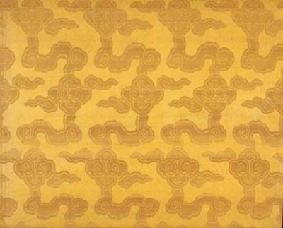 A panel of golden yellow silk