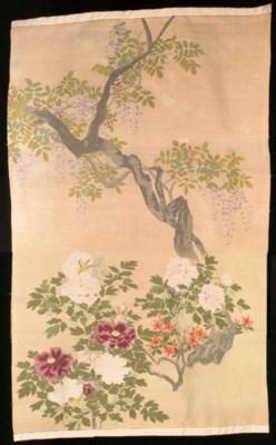 A hanging of silk kesi, the gi
