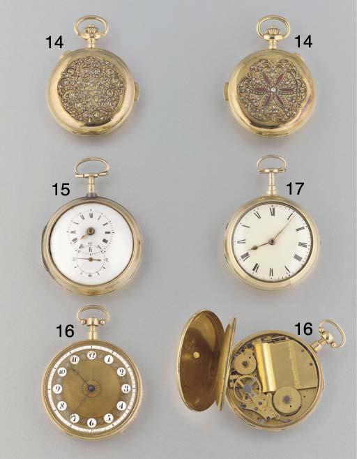 Wilson: An 18ct. gold pair cas