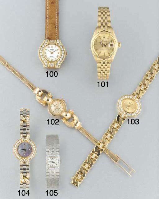 Rolex: A lady's 18ct. white go
