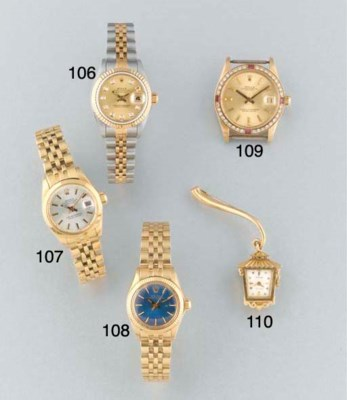 Rolex: An unusual 18ct. gold f