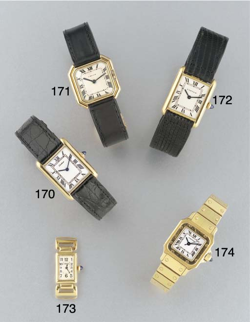 CARTIER: AN 18ct. GOLD WRISTWA