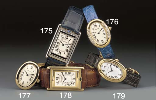 Cartier: An 18ct. gold oval wr