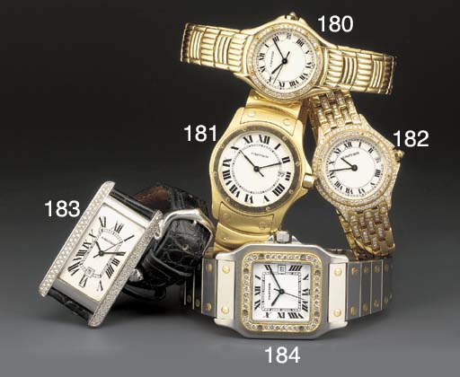 Cartier: An 18ct. gold and dia