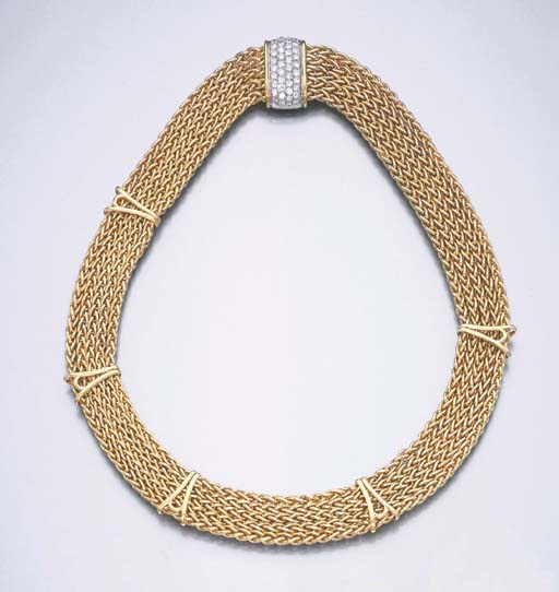 A SWAG NECKLACE, BY TIFFANY &