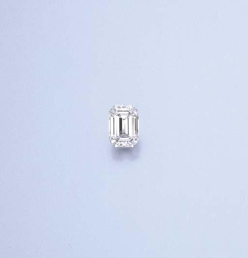 AN UNMOUNTED RECTANGULAR-CUT DIAMOND