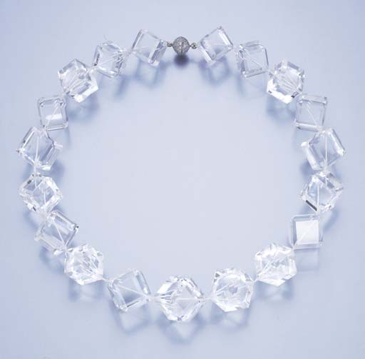 A ROCK CRYSTAL AND DIAMOND NEC