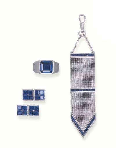 A GROUP OF SAPPHIRE JEWELLERY