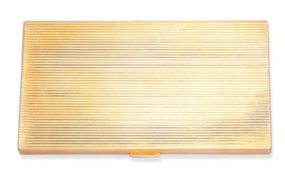 A GOLD CIGARETTE CASE, BY DUNH