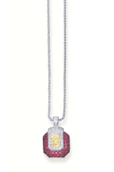A FANCY YELLOW DIAMOND, DIAMON