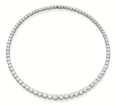 A DIAMOND RIVIERE NECKLACE