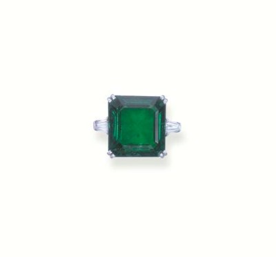 AN IMPORTANT EMERALD SINGLE-ST