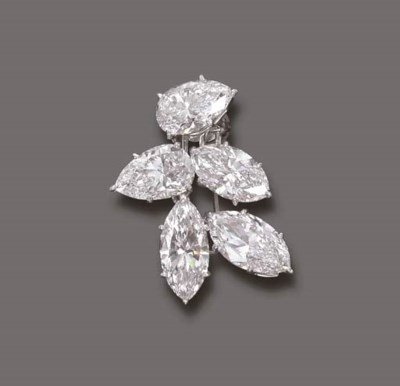 A VERY IMPORTANT DIAMOND BROOC