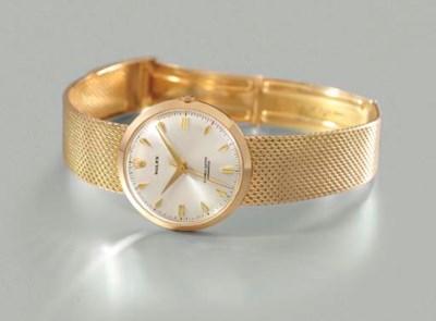 Rolex. A rare 18K gold wristwa