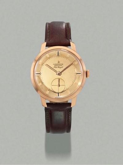 Zenith. An 18K pink gold wrist