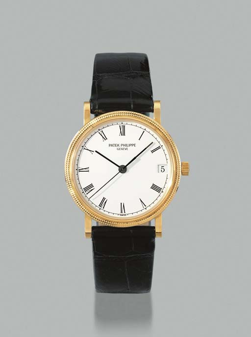 Patek Philippe. An 18K gold self-winding wristwatch with sweep centre seconds and date