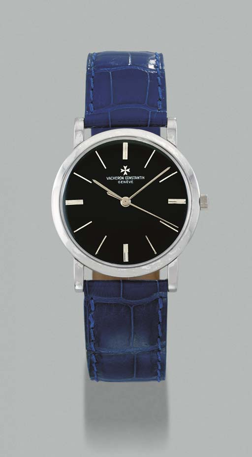 Vacheron & Constantin. An 18K white gold wristwatch with sweep centre seconds and black dial
