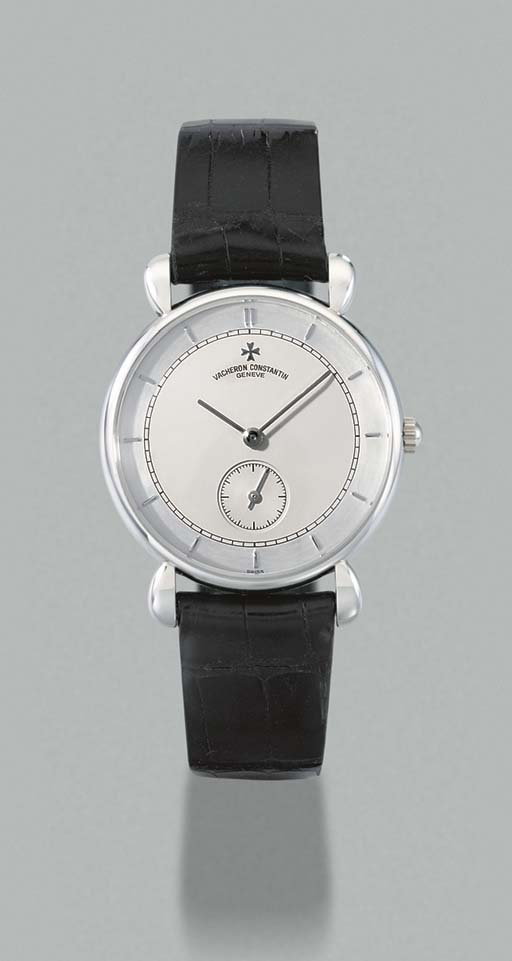 Vacheron & Constantin. A fine limited edition platinum wristwatch with two tone dial