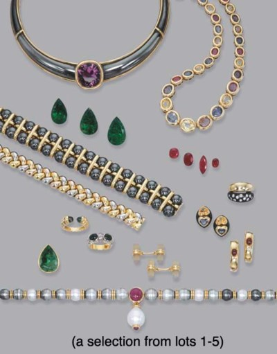 A COLLECTION OF GOLD AND GEM-S