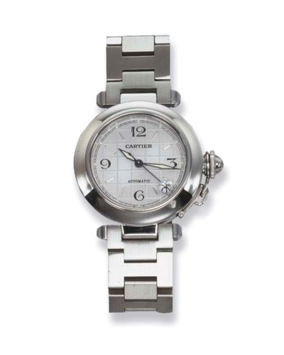 A STAINLESS STEEL PASHA WRIST