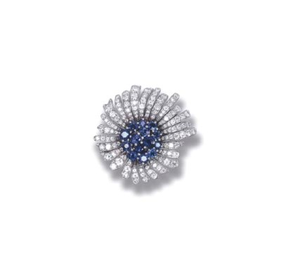 A SAPPHIRE AND DIAMOND 'MINI P