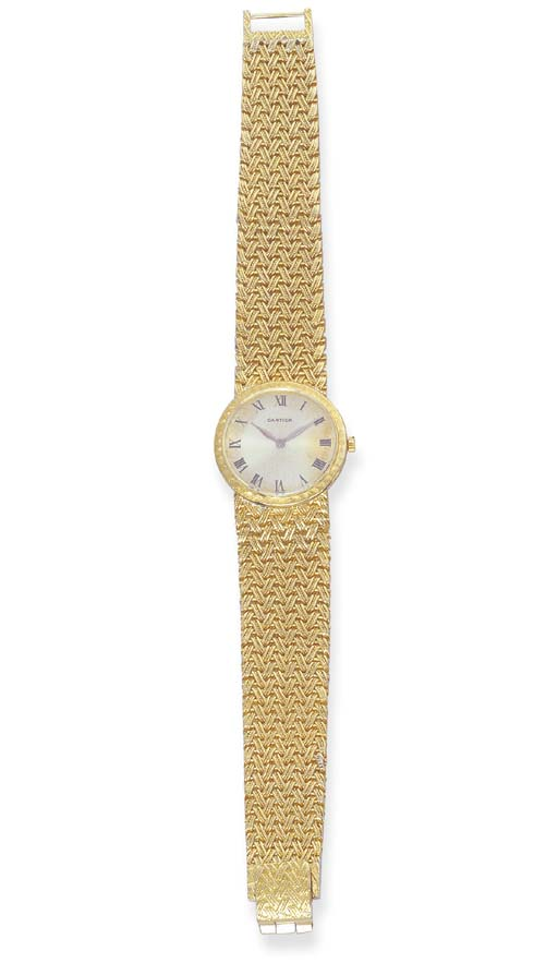 AN 18K GOLD WRIST WATCH, BY CA