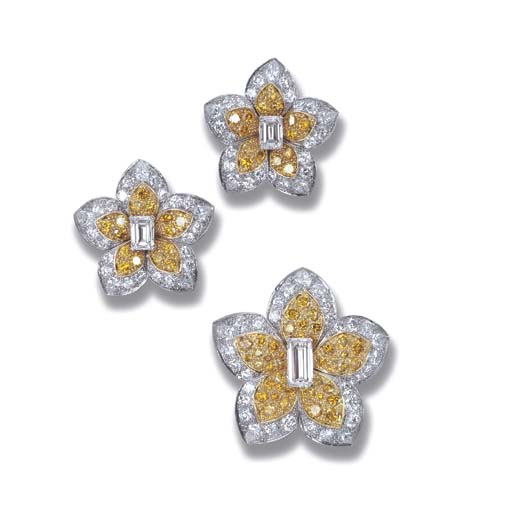 A DIAMOND AND YELLOW DIAMOND F