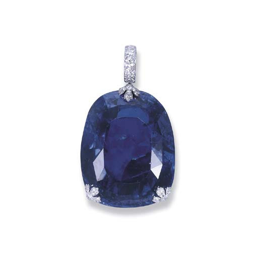 A MAGNIFICENT AND HISTORIC SAPPHIRE PENDANT, BY CARTIER
