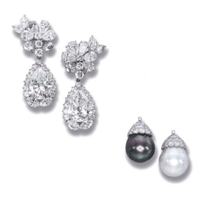 A PAIR OF SUPERB DIAMOND AND S